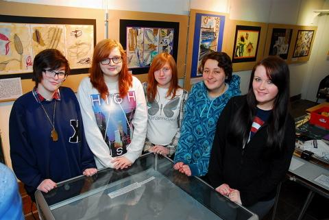 Art students from Brimsham Green School launch new exhibition at Yate Heritage Centre