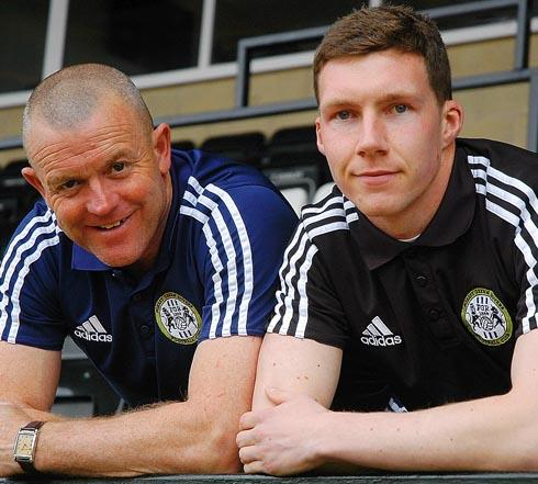 ALL THE BEST: David Hockaday wishes 'top lad' Phil Marsh all the best