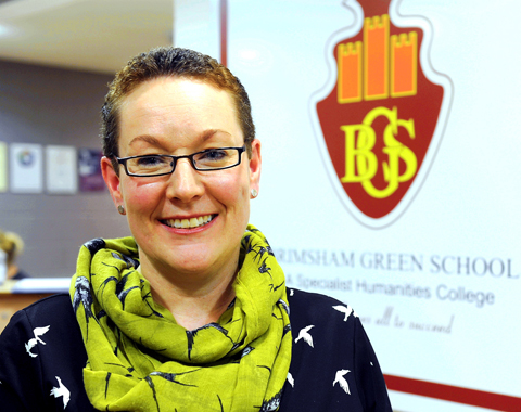 Brimsham Green School head teacher Kim Garland has a 'moral purpose' to improve aspirations at the Yate school