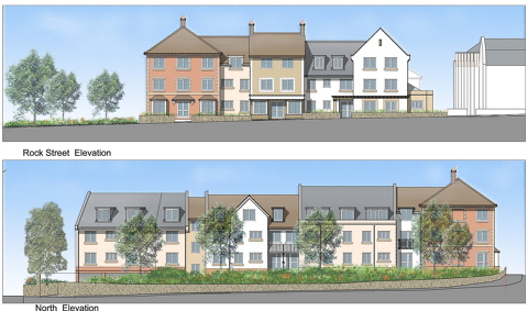 A mock-up of the proposed sheltered housing community in Rock Street, Thornbury