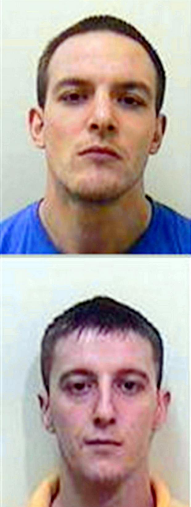 Stephen Rees, 31, and Liam Ahearne, 24, absconded from HMP Leyhill on Wednesday, January 30
