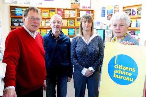 Thornbury Citizens Advice Bureau staff Quentin Killey, John Snowden, Chantal Watts and Judy Roberts