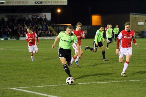 Yan Klukowski in action for Forest Green against Kidderminster. Picture: Shane Healey