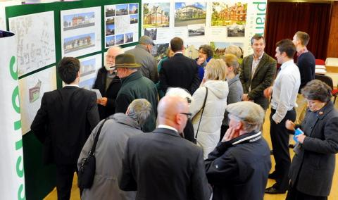 Residents find out about Churchill Retirement Living's proposals at the Cossham Hall in Thornbury