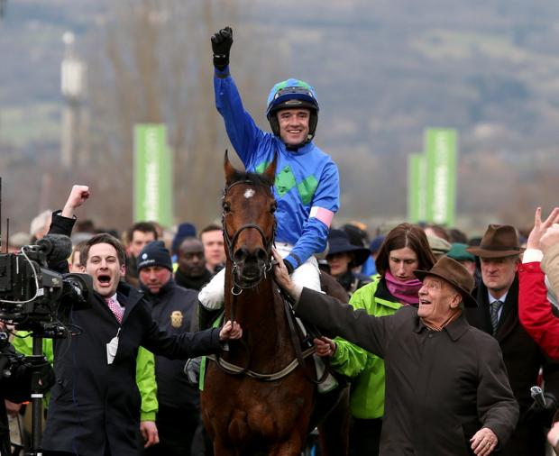 Gazette Series: Ruby Walsh celebrated two winners on Champion Day at the