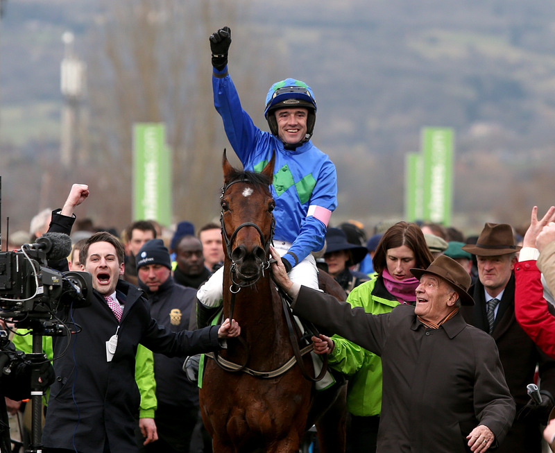 Ruby Walsh celebrated two winners on Champion Day at the Cheltenham Festival
