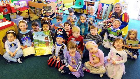 Children at the Rainbow Teddies Pre-School in Thornbury dressed as their favourite book characters for World Book Day