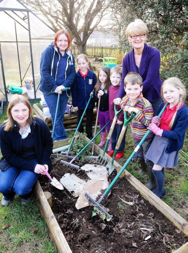 St Mary's Primary School in Yate is growing its gardening club