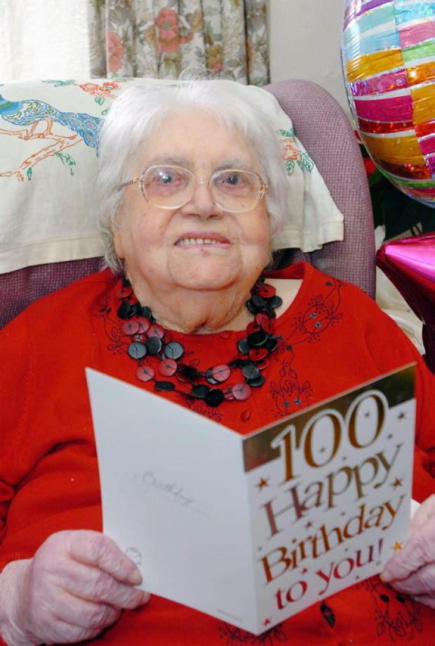 Winterbourne Down horticulturist Ida Cox, seen here on her 100th birthday, has died
