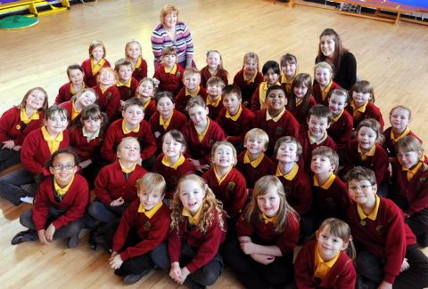 Broadway Infant School in Yate won best under seven's choir at Thornbury Eisteddfod
