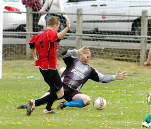 Thornbury score a second goal against Berkeley on Saturday