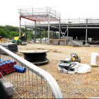 The Waitrose store under construction in Chipping Sodbury