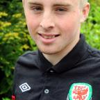 Castle School pupil Joe Morrell in his Wales training kit GSR618V13