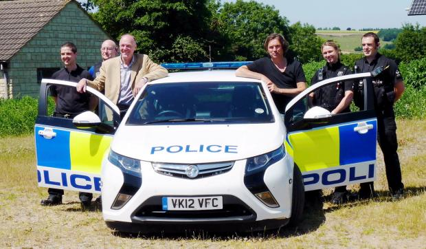 New charging point for police's green fleet
