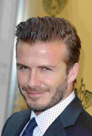 David Beckham, spotted in Stroud this afternoon, Saturday