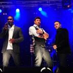 Gazette Series: Nineties boy band Blue on stage at Castle Howard