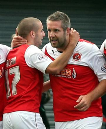 SIGNED: New Forest Green striker Jon Parkin (right) has signed a one-year deal