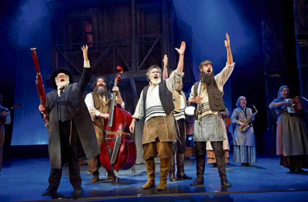 A scene from Fiddler On The Roof, starring Paul- Michael Glaser and directed and chroegraphed by Craig Revel Horwood.