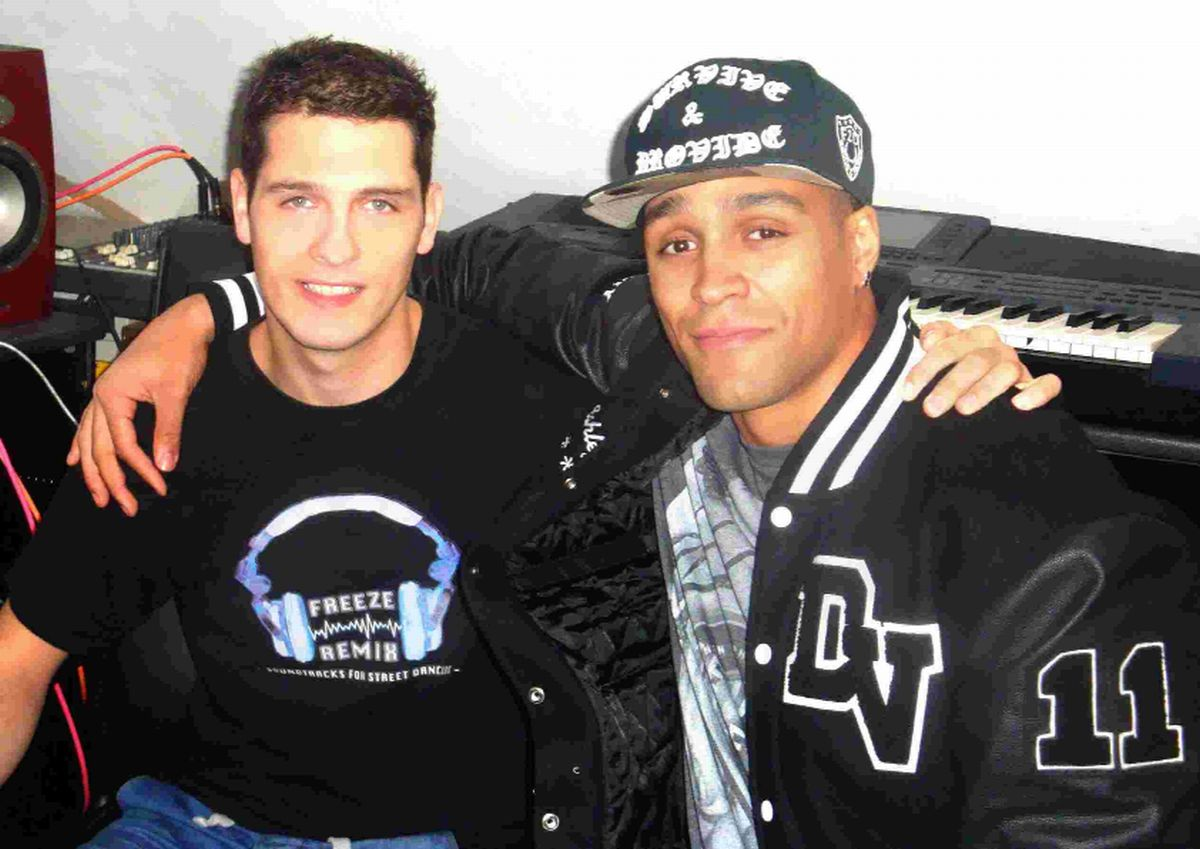 IN TUNE: Fraser Bennett with Diversify's  Ashley Banjo