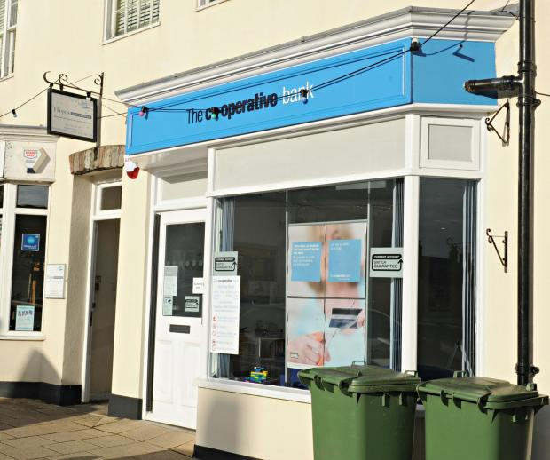 The former Britannia bank in Chipping Sodbury had just been refitted as a Co-operative