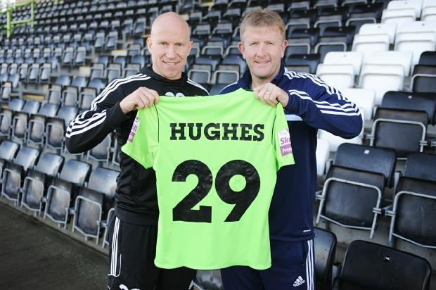 DEBUT: Lee Hughes will make his debut tonight for Ady Pennock's Forest Green Pic:Tom Wren
