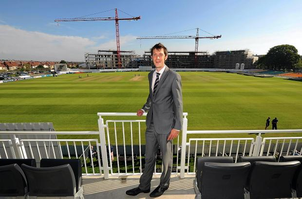 Gloucestershire chief executive Will Brown at the County Ground in BristolPicture: Martin Bennett