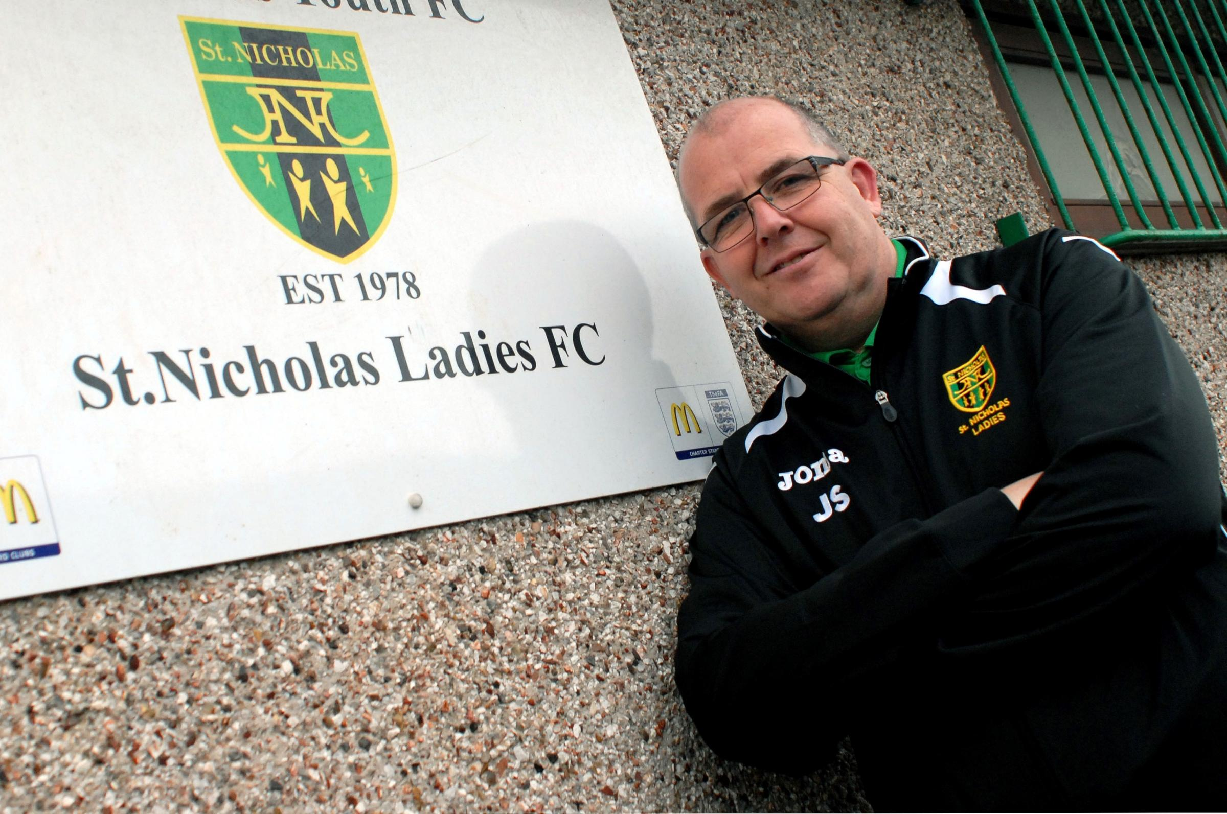 John Seymour, manager of St Nicholas Ladies Football team in Chipping Sodbury (3433058)
