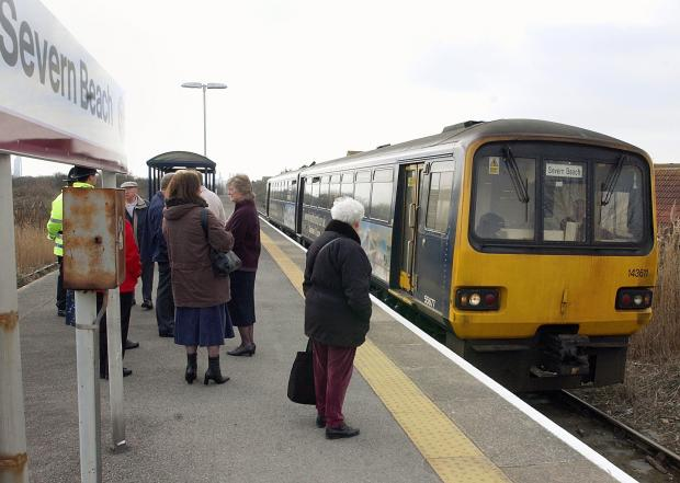 Passenger numbers are up 25 per cent at Severn Beach station
