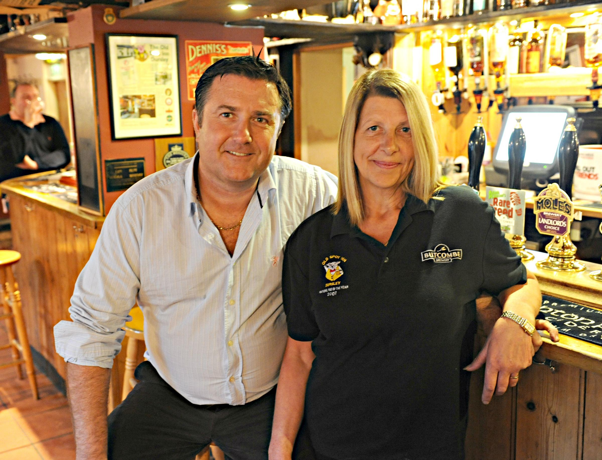Landlord and lady Steve and Belinda Herbert call time at Old Spot Inn in Dursley