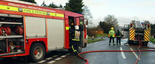Van fire required nine Gloucestershire firefighters
