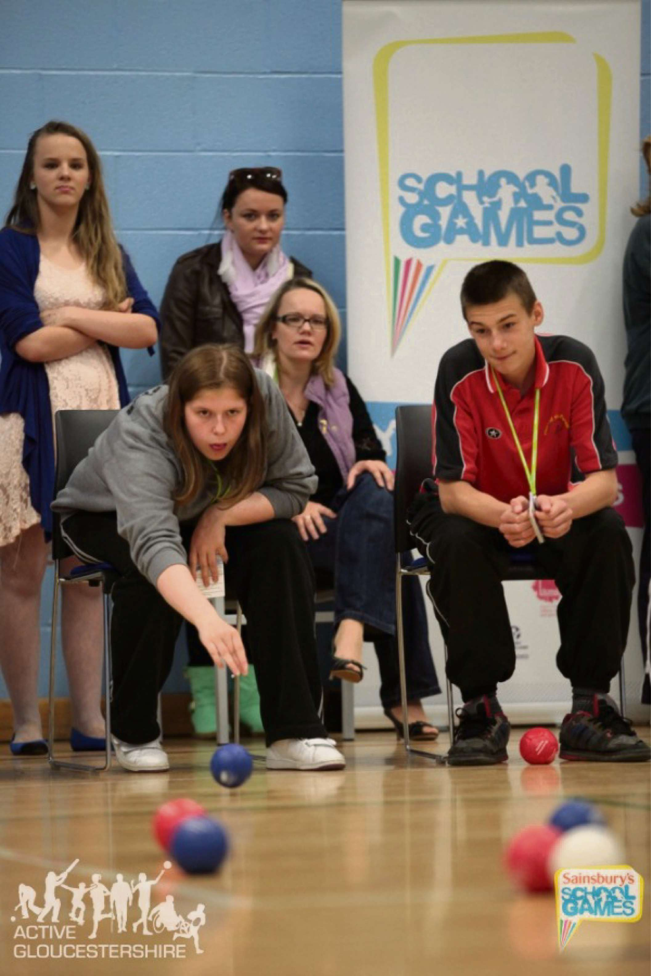 Action from the Gloucestershire School Games last year