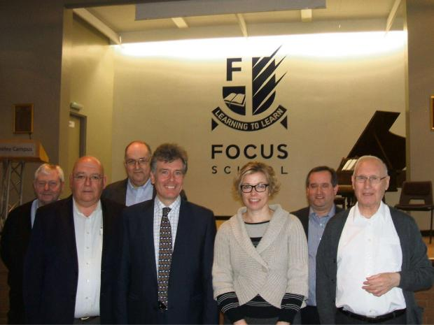 Stroud MP Neil Carmichael meets headteacher Lucy Sherrin and fellow members of Focus School: Berkeley Campus (3643601)