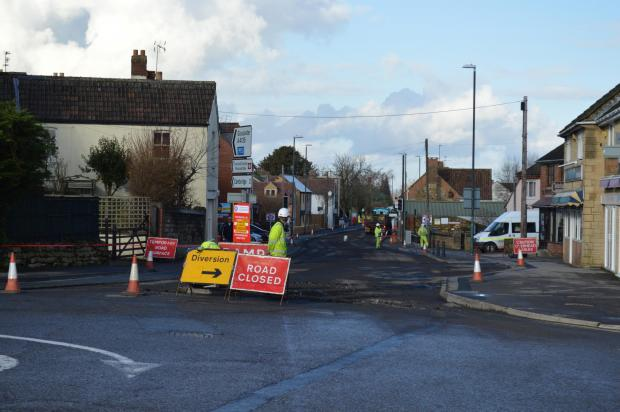 Gazette Series: Resurfacing being carried out on Cam's High Street (3660250)