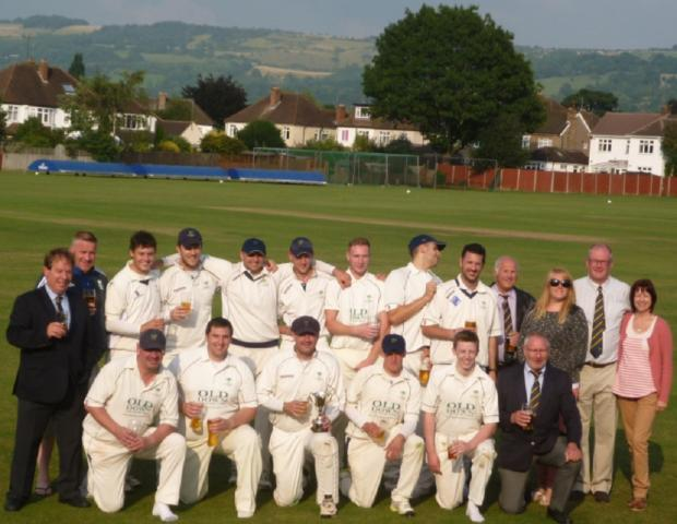 CHAMPIONS: Old Down celebrate winning the Gloucestershire County Trophy last year