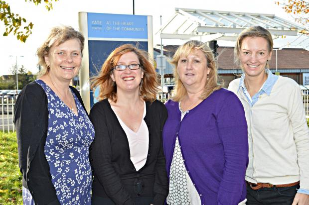 St Peters Hospice Community Nurse Specialists Liz Attwood, Vanessa Hull and Carolyn Taylor with Dr Rachel Royston