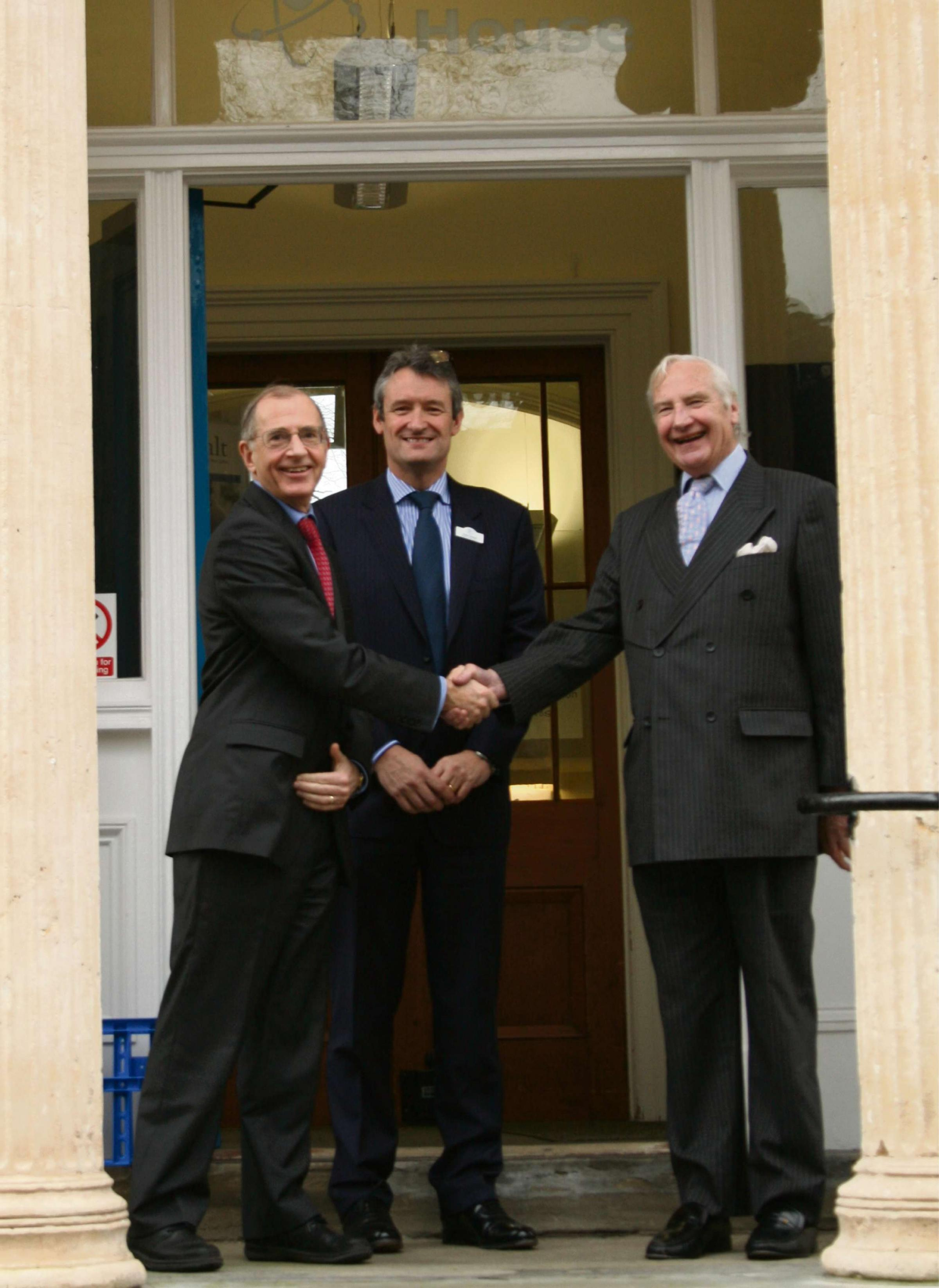 From left to right, new Cobalt chairman Peter Warry, chief executive Peter Sharpe and outgoing chairman David Abel Smith