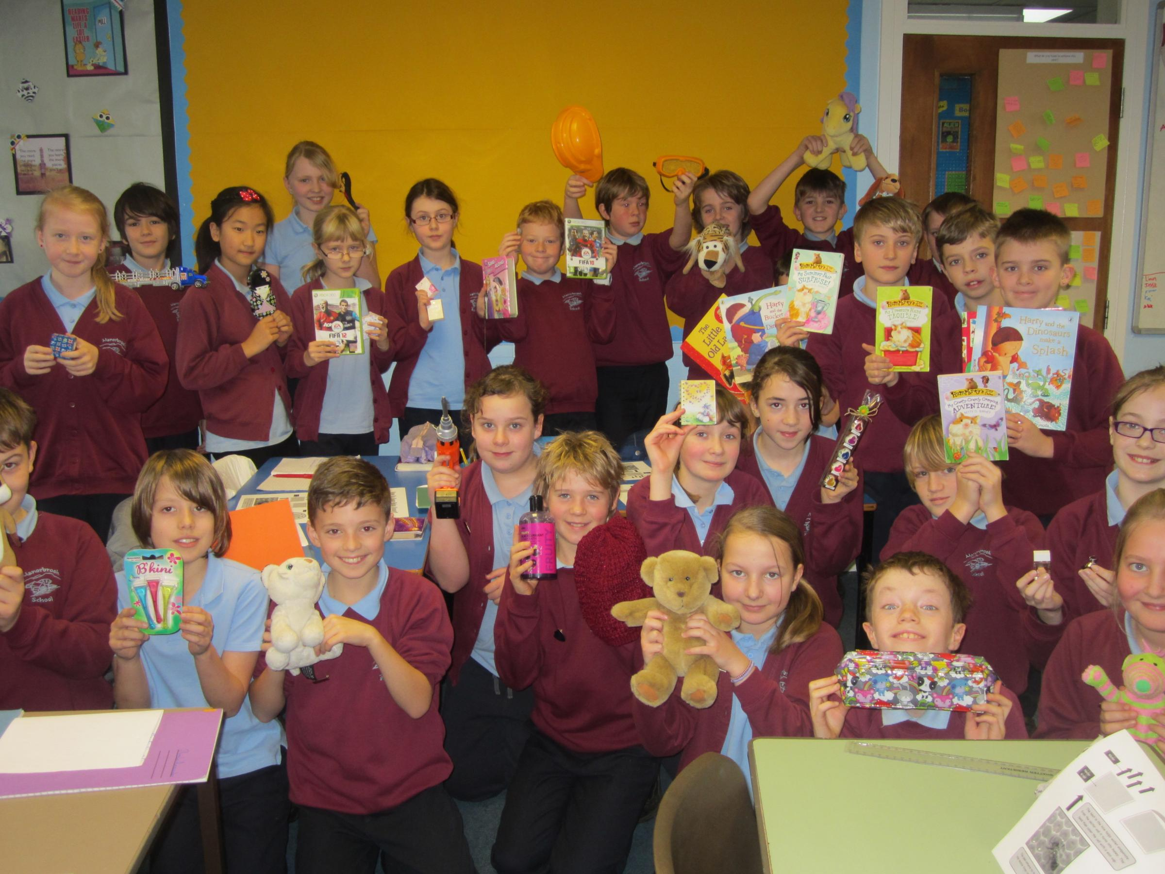 The Year 6 students who raised £200 to help the poor in the the Philippines