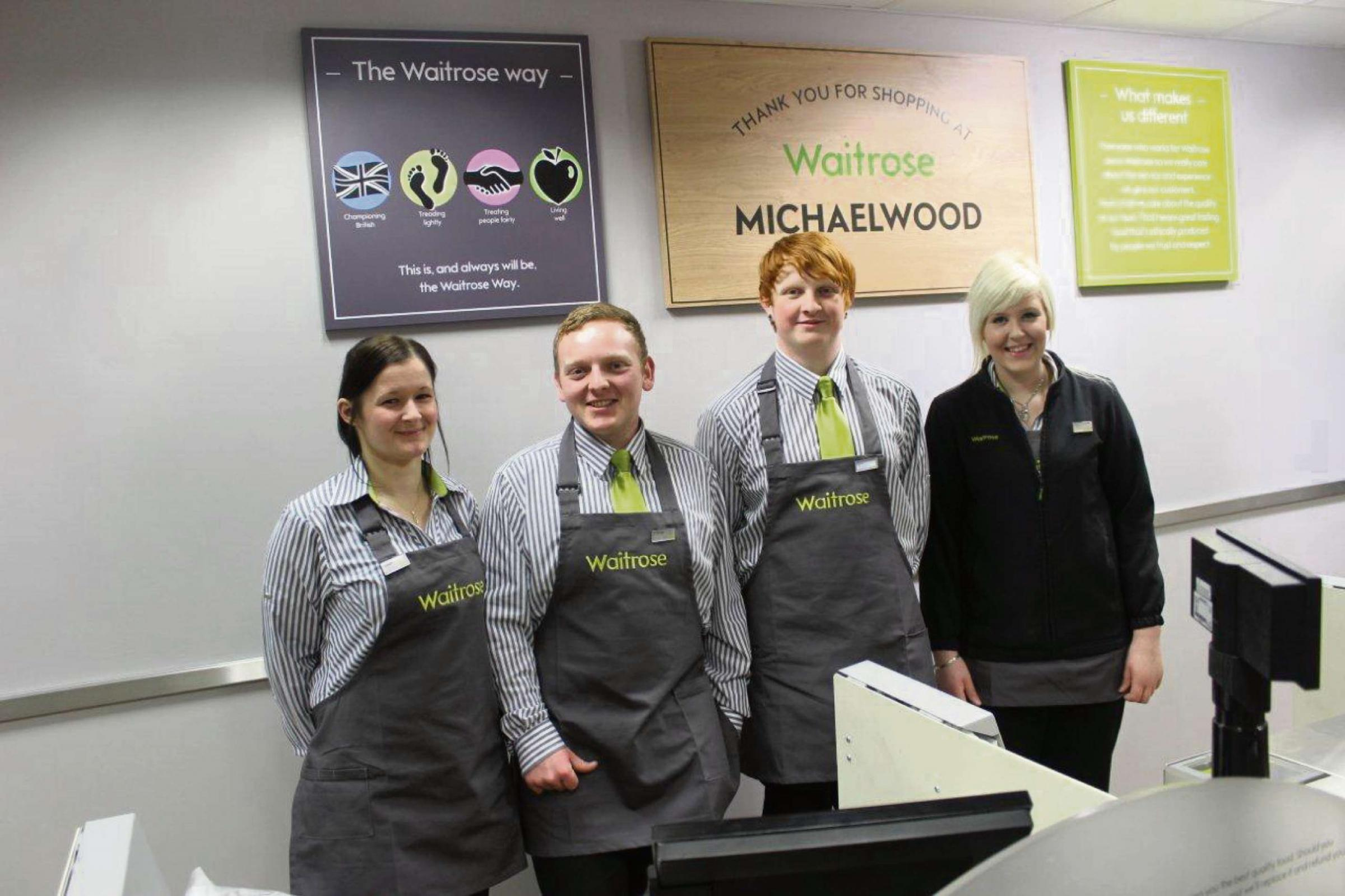 Staff settle in at new Waitrose store at MIchaelwood Service Staion on the M5 (3906165)