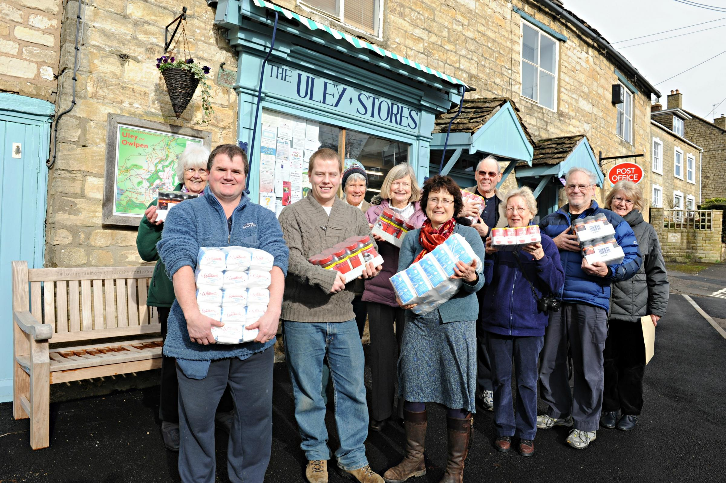 Uley Community Store profits donated to Stroud District Foodbank