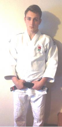 OLYMPIC DREAM: James Hayes in his England judo kit