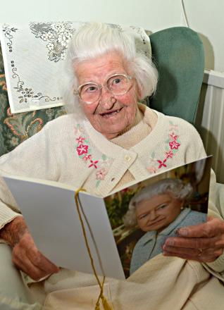 Egizia Harrison, from Winterbourne, who turned 100 on Monday