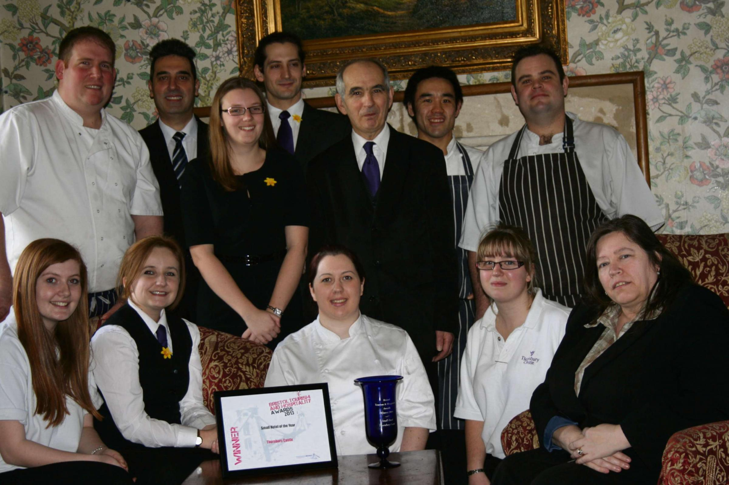 Part of the successful and dedicated team from Thornbury Castle with their recent award  (4218514)