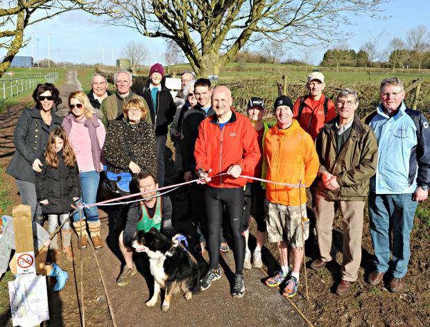 Geoff Keogh, Parkrun UK Ambassador cut the ribbon to officially open the new Jubilee pathway at The Ridings in Chipping Sodbury on Saturday