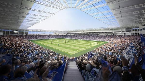 How the new Bristol Rovers stadium in Stoke Gifford could look