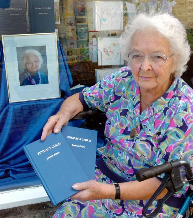 Gazette Series: Joanna Shipp pictured with her book in 2009