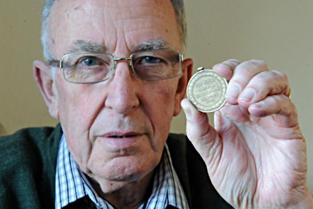 Tony Nelson with the World War One medal