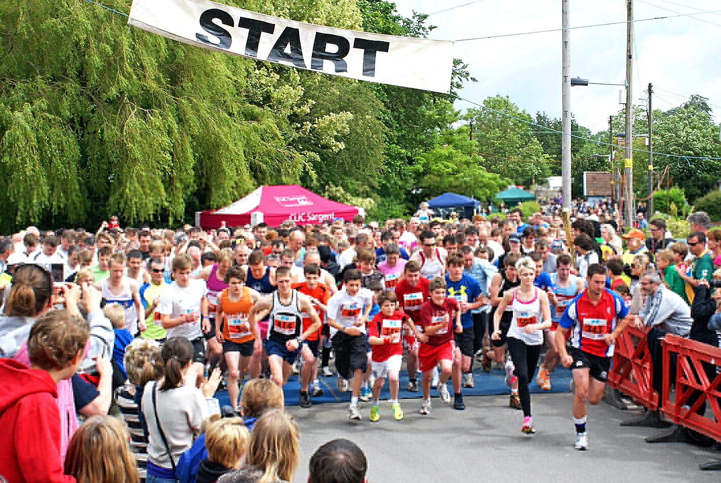 The start of last year's Oldbury Fun Run