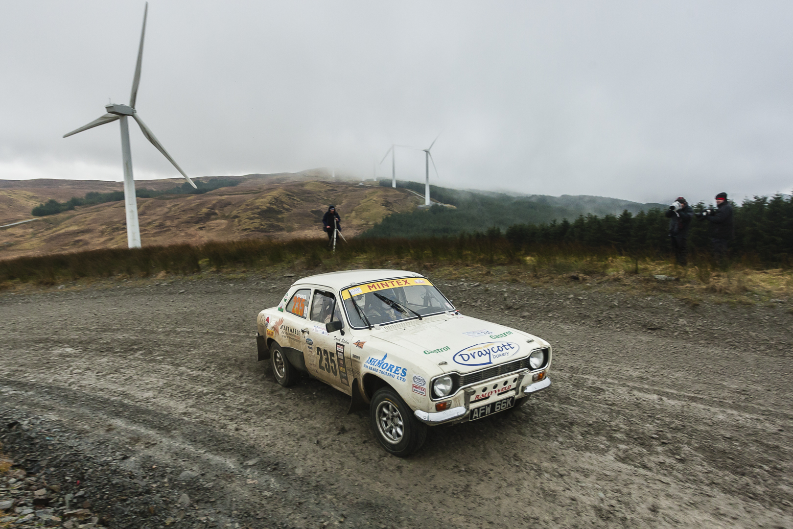 David Stokes in action during the Mid Wales Historic Stages. Picture by Chris Huish