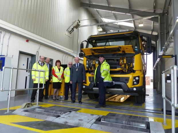 Cllr Howard Gawler, vice-chairman of South Gloucestershire Council, officially opens the new MOT centre in Yate
