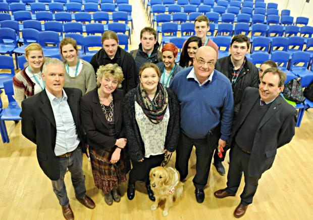 Rednock School pupil Ellen Watson, centre, chaired an Any Question session with the school's sixth formers and representatives of political parties Haydn Jones, Conservative, Caroline Stephens, UKIP,  Dennis Andrewartha, Liberal Democrats and David Dr